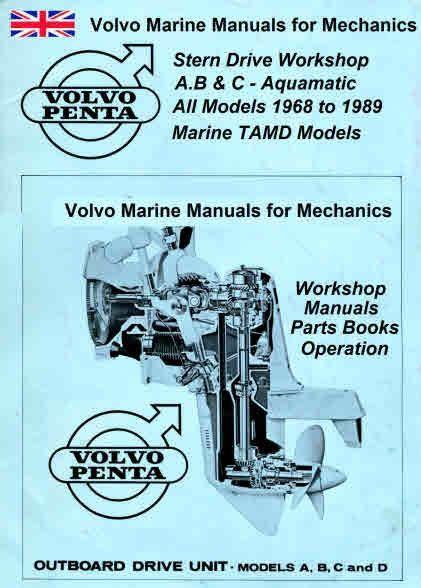 Volvo Marine Engine Service Manuals For Mechanics Volvo Mechanical Workshop Marine