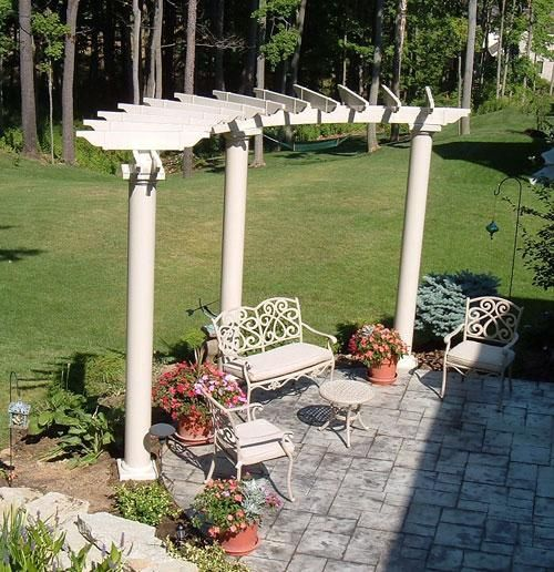 Image result for curved pergola kits - Image Result For Curved Pergola Kits Backyard Fire Pit Pinterest