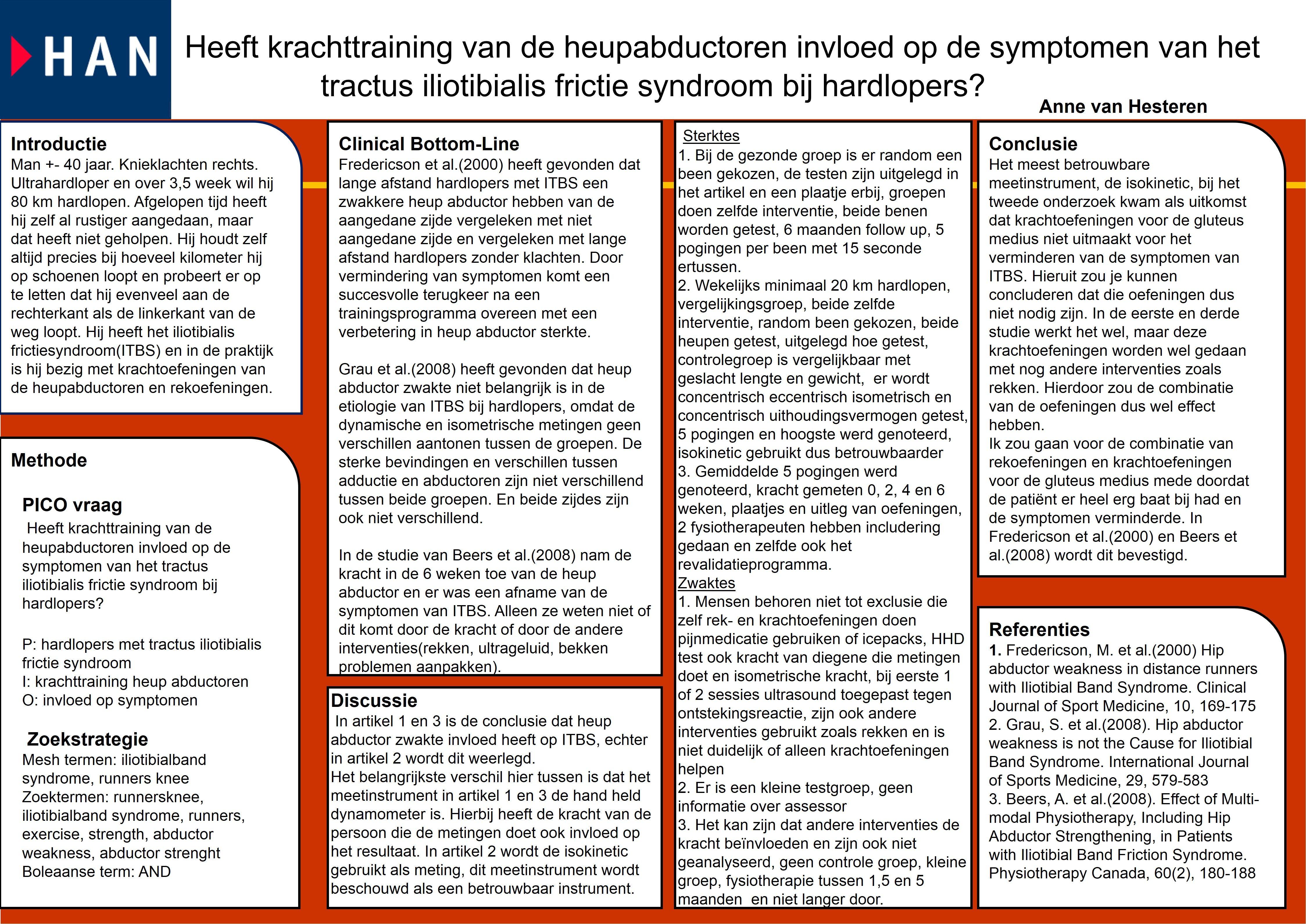 Heeft krachttraining van de heupabductoren invloed op de symptomen ...