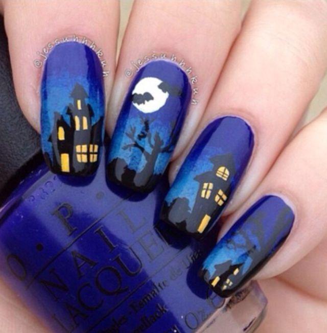 Halloween Ghost Nail Art Designs Ideas 2014 Nails Pinterest