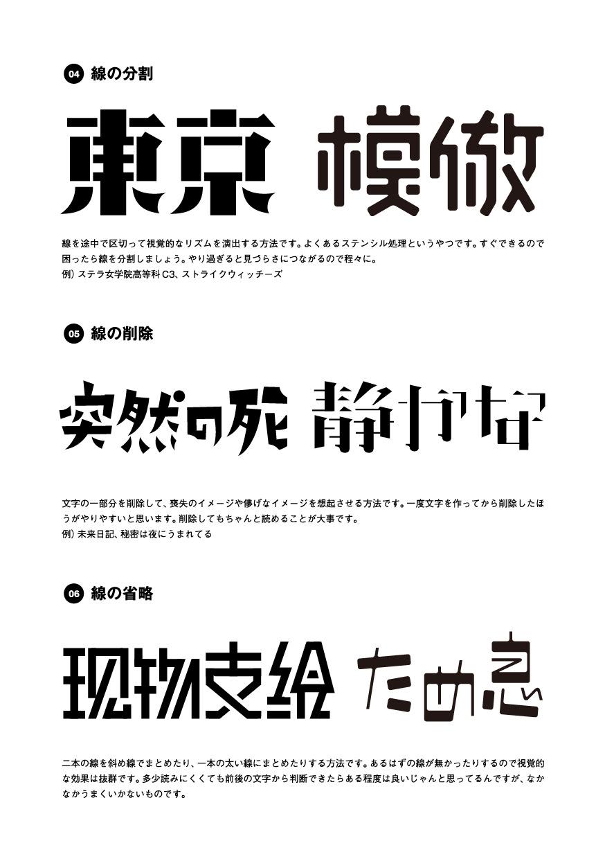 ハイパー作字タイム テキストデザイン ロゴの作り方 ロゴ フォント