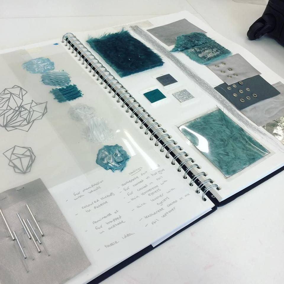 fashion textiles sketchbook