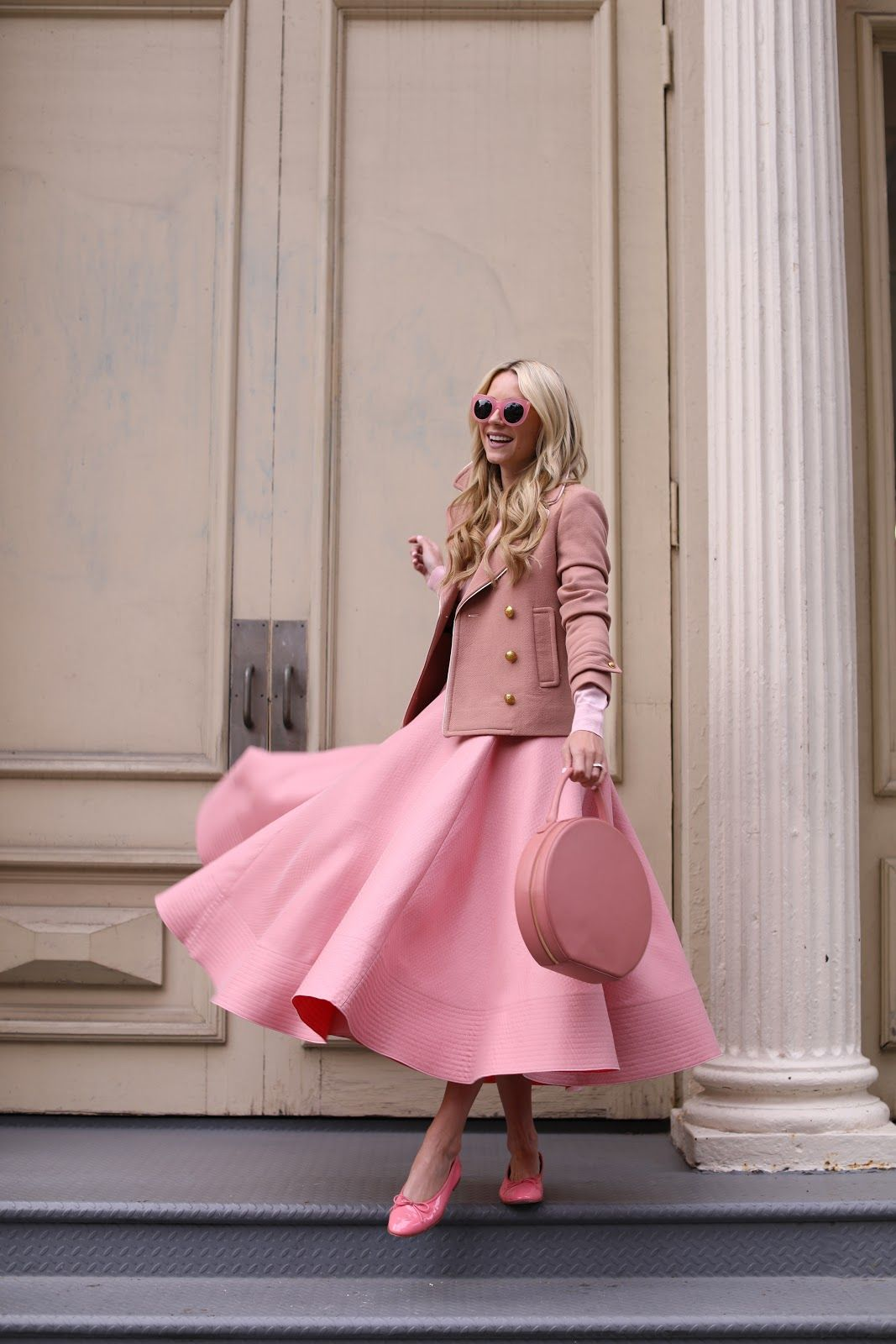 Chic lady in pink.