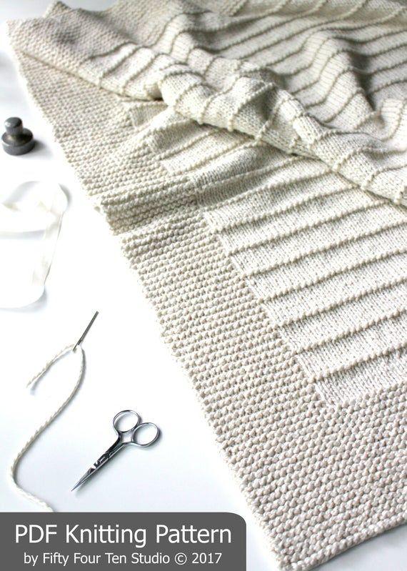 Blanket KNITTING PATTERN / On the Porch / Baby Bla