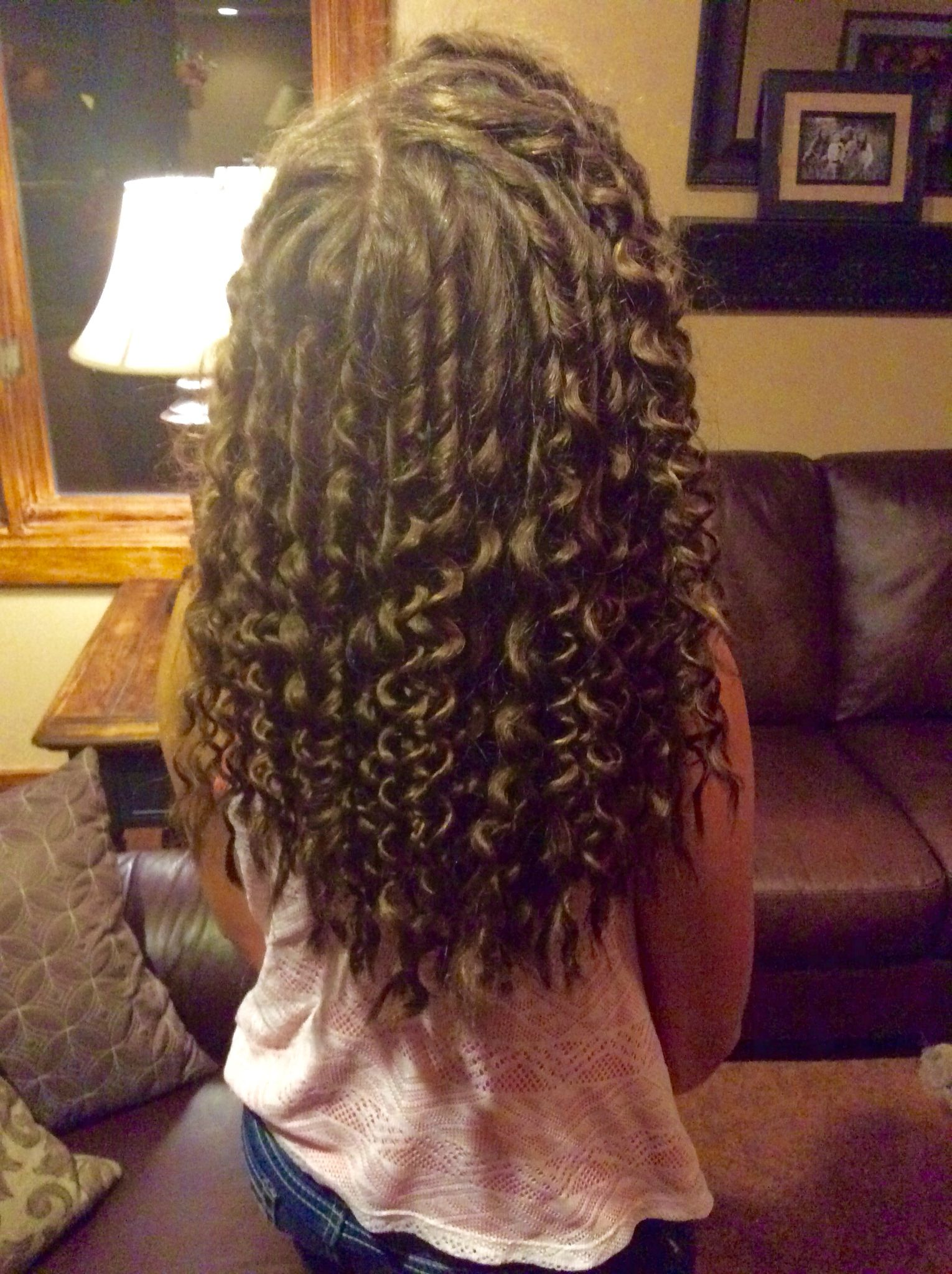 did pencil curls in madison s hair took forever but they stay