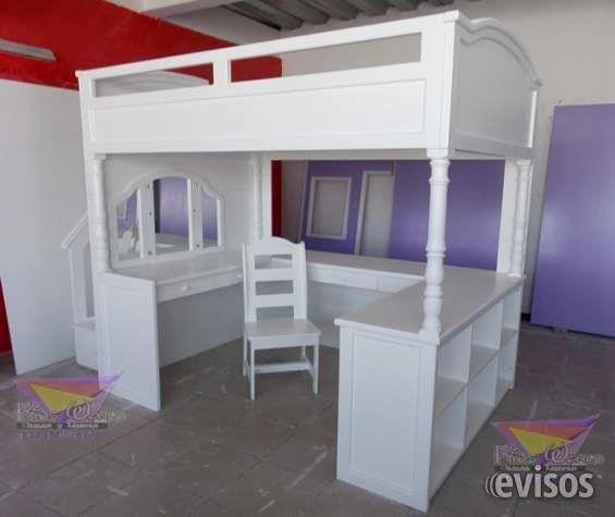 Camas altas estilo Loft Los espacios reducidos no son sinónimo de