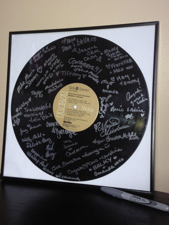 Custom Vinyl Record Wedding Guestbook Alternative W