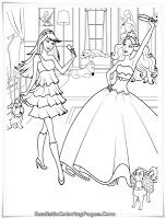 Barbie And 12 Dancing Princesses Coloring Pages Warna Anak