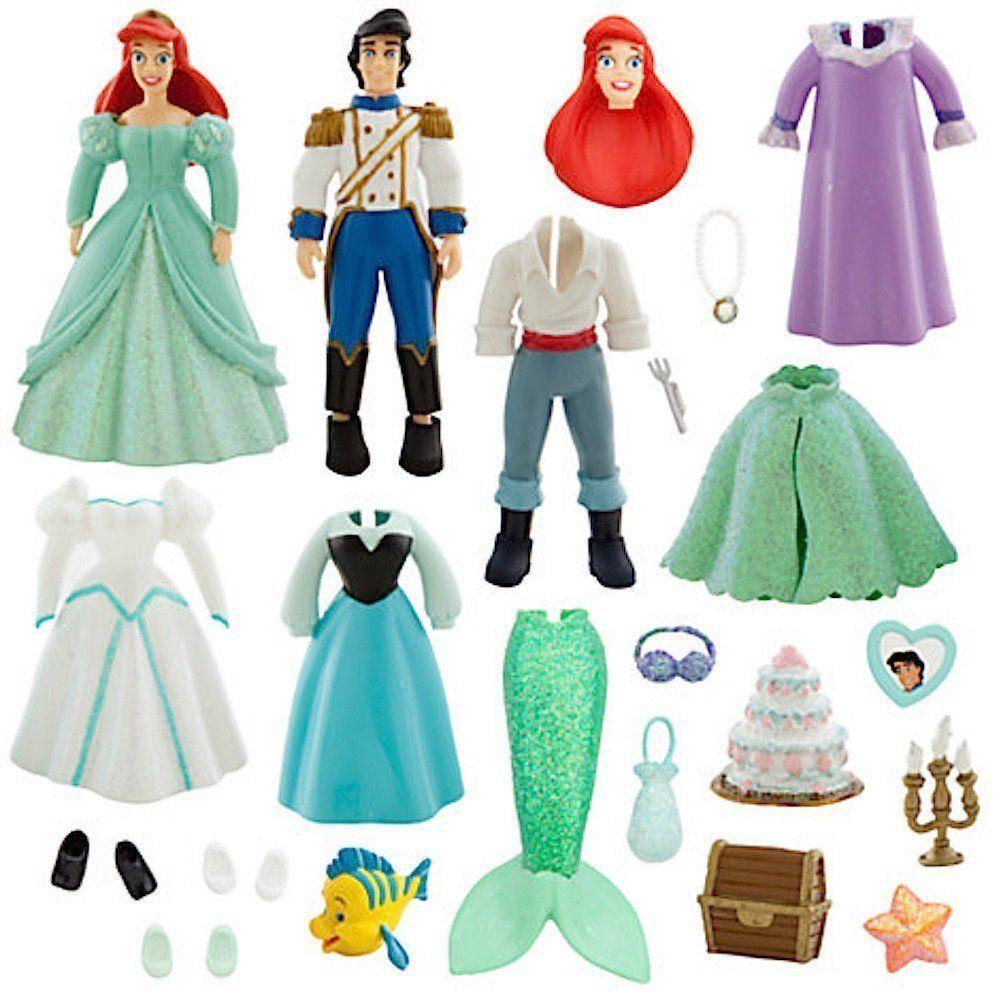 amazon com disney parks ariel and prince eric deluxe princess