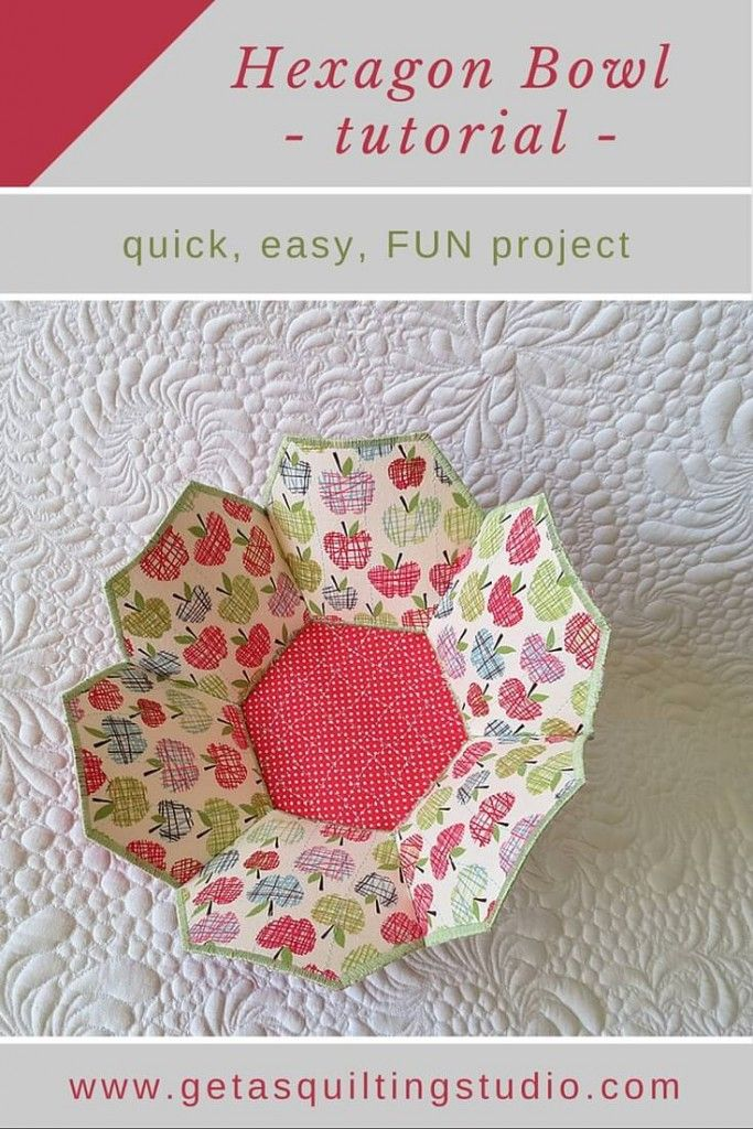 Hexagon Bowl Tutorial- Great For Fabric, Interfacing
