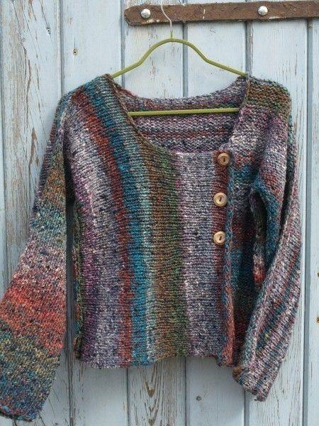 Beautiful Noro Silk And Wool Cardigan Sweater Wool