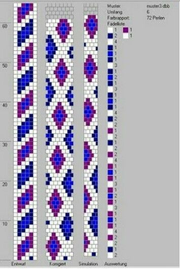 beaded loom braclet pattern