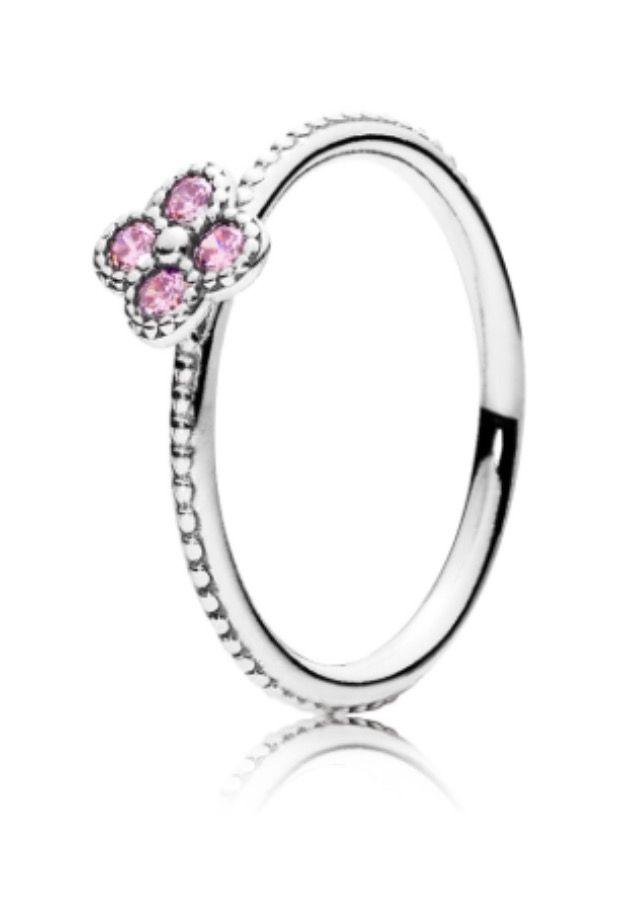 Pandora oriental blossom pink cz Rings Pinterest