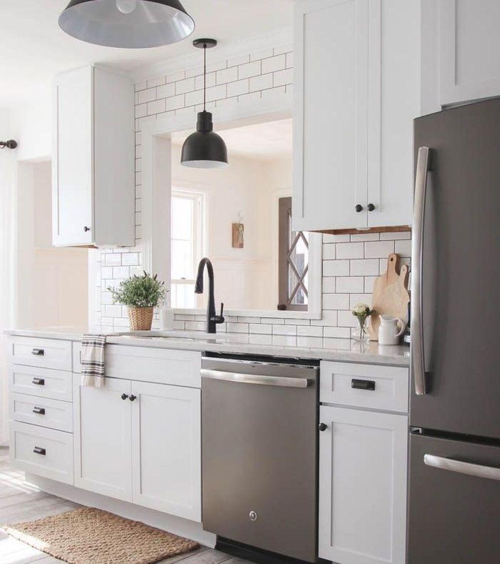 45 Luxury White Kitchen Cabinets Design Ideas | New ...