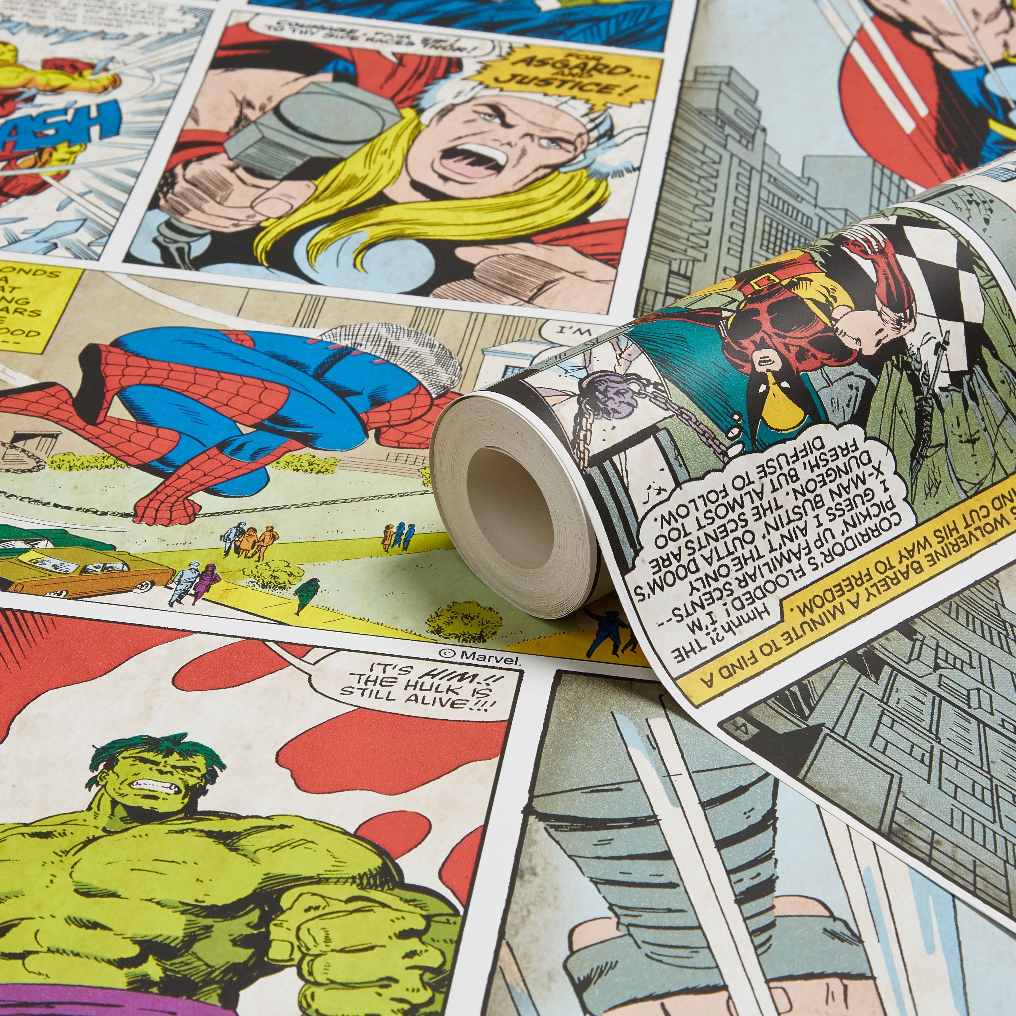Marvel Comic Strip Children s Wallpaper   Departments   DIY at B Q. Marvel Marvel Comic Strip Children s Wallpaper   Children  Marvel