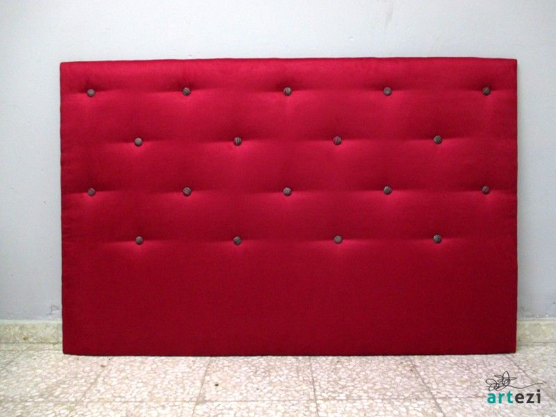 cabecero para cama de cm tapizado en tela agradable al tacto en color fucsia y