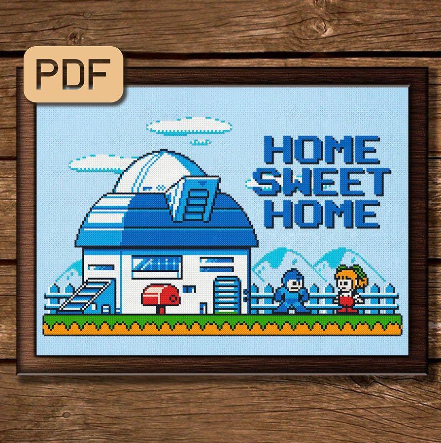 Mega Man Cross Stitch Pattern Home Sweet Home Cross Stitch Pdf