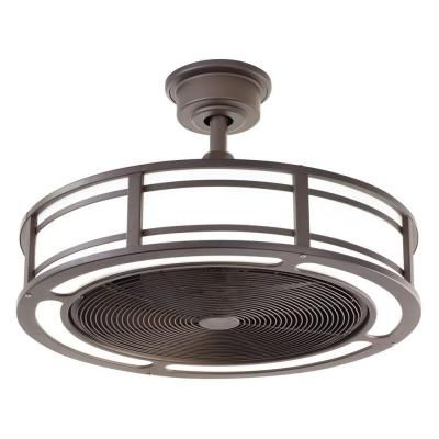 Home Decorators Collection Brette 23 in. LED Indoor/Outdoor Espresso Bronze Ceiling  Fan - Home Decorators Collection Brette 23 In. LED Indoor/Outdoor