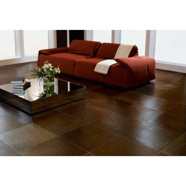 Brown Tile Floor For The Dining Area Living Room Tiles Floor Design Floor Tile Design