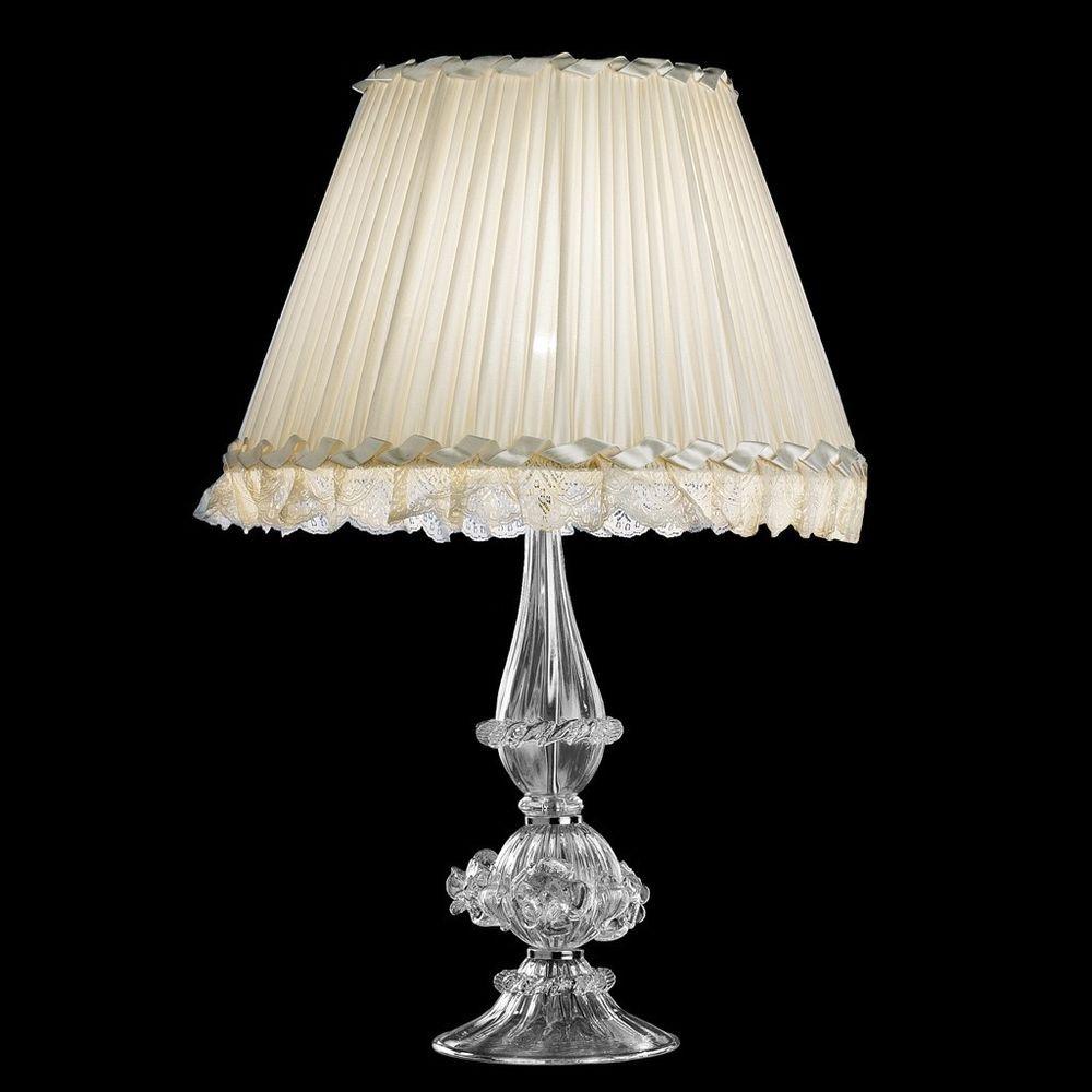 Lampenschirm Tischlampe Lampe Glas Glasschirm Murano Stil glass lampshade grün