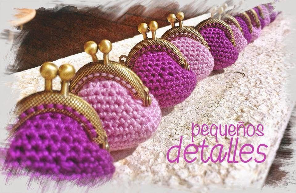 Tutorial Mini Monederos con boquilla crochet   croΚλωστές ...