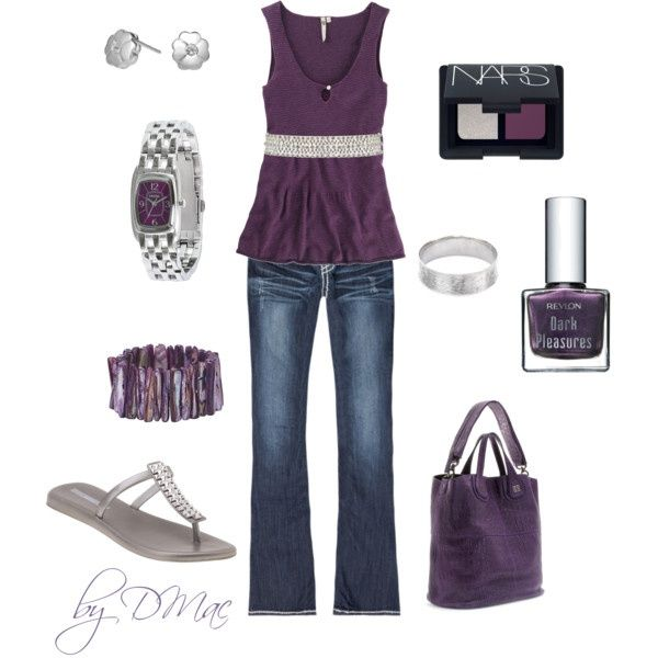 Purple and Silver!, created by dmac30 on Polyvore nice-outfits