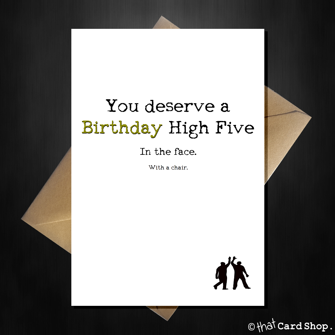 Funny birthday card the mean high five rude card for a friend funny birthday card the mean high five rude card for a friend m4hsunfo
