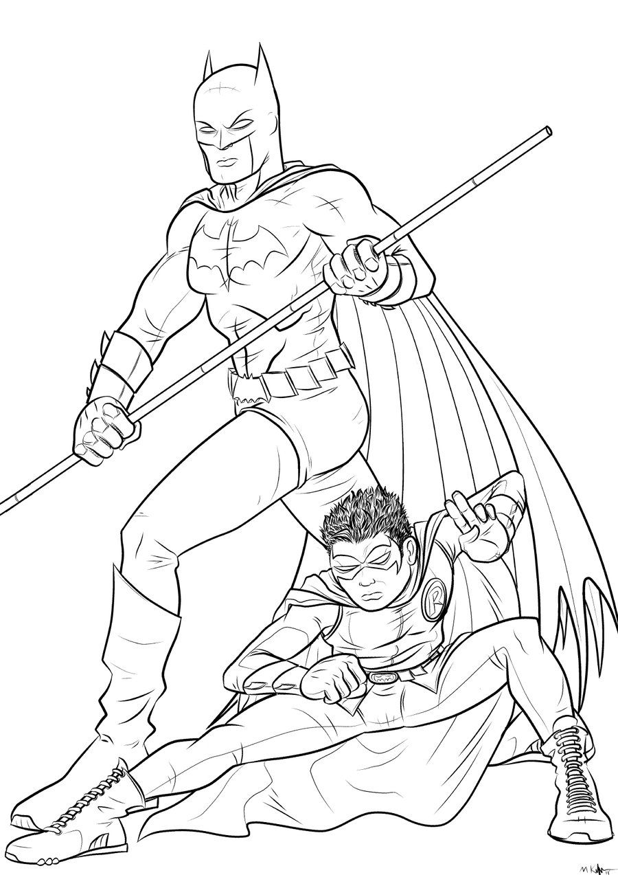 Batman And Robin Coloring Pages Batman And Robin Coloring Pages