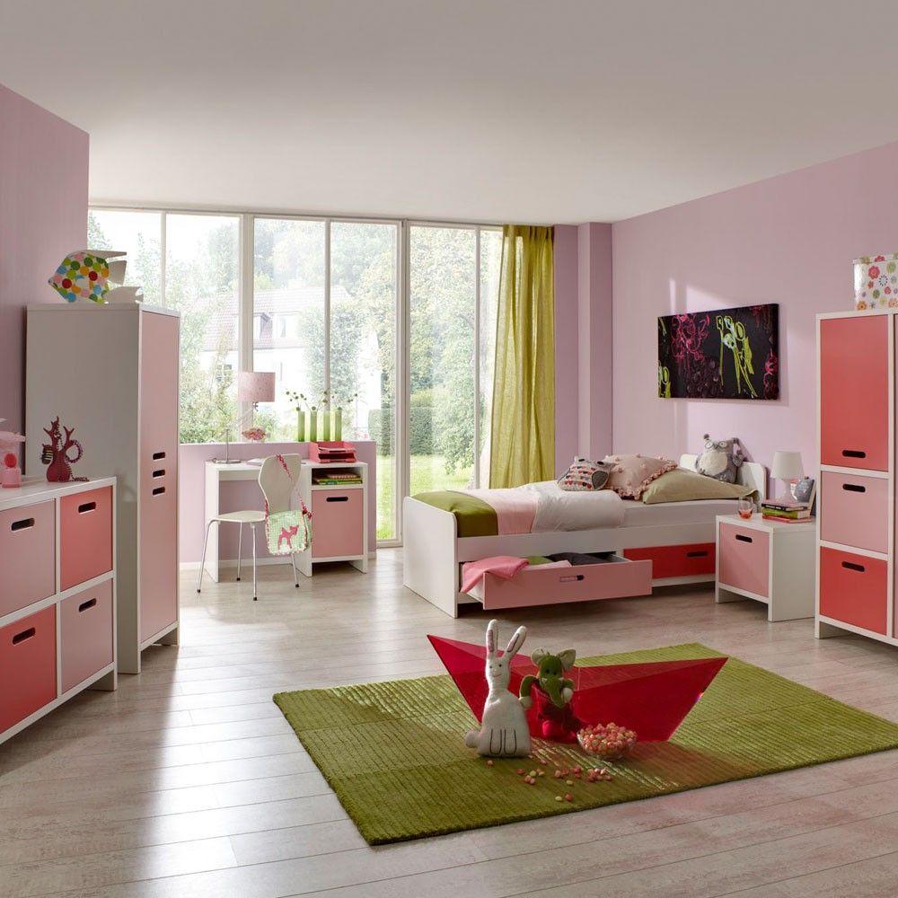 Tolle Kinderzimmer Und Jugendzimmer Möbel In Weiß, Hellrosa Und Dunkelrosa  In Sehr Guter Qualität.
