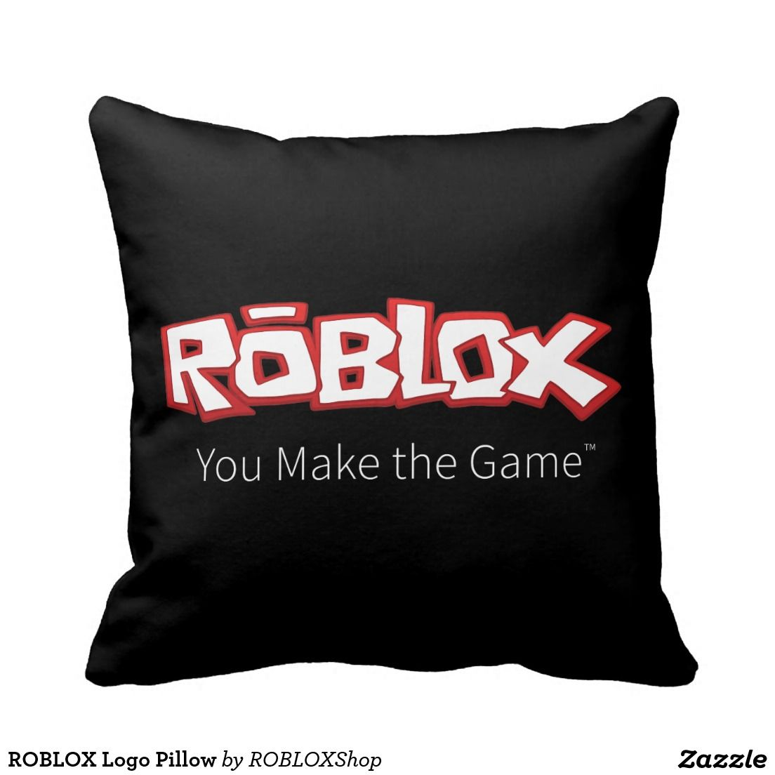 Roblox Logo Pillow Roblox Pillows Games Roblox