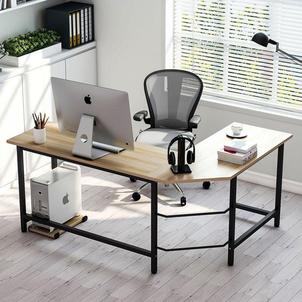Modern lshaped desk corner computer in office pinterest