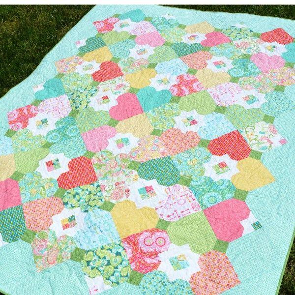 First Crush Quilt | Fat Quarter Quilts | Pinterest