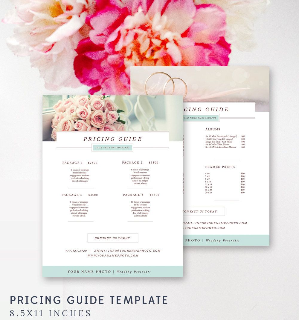 Price List Templates Photography Price Sheet  Wedding Photography Pricing List Template .