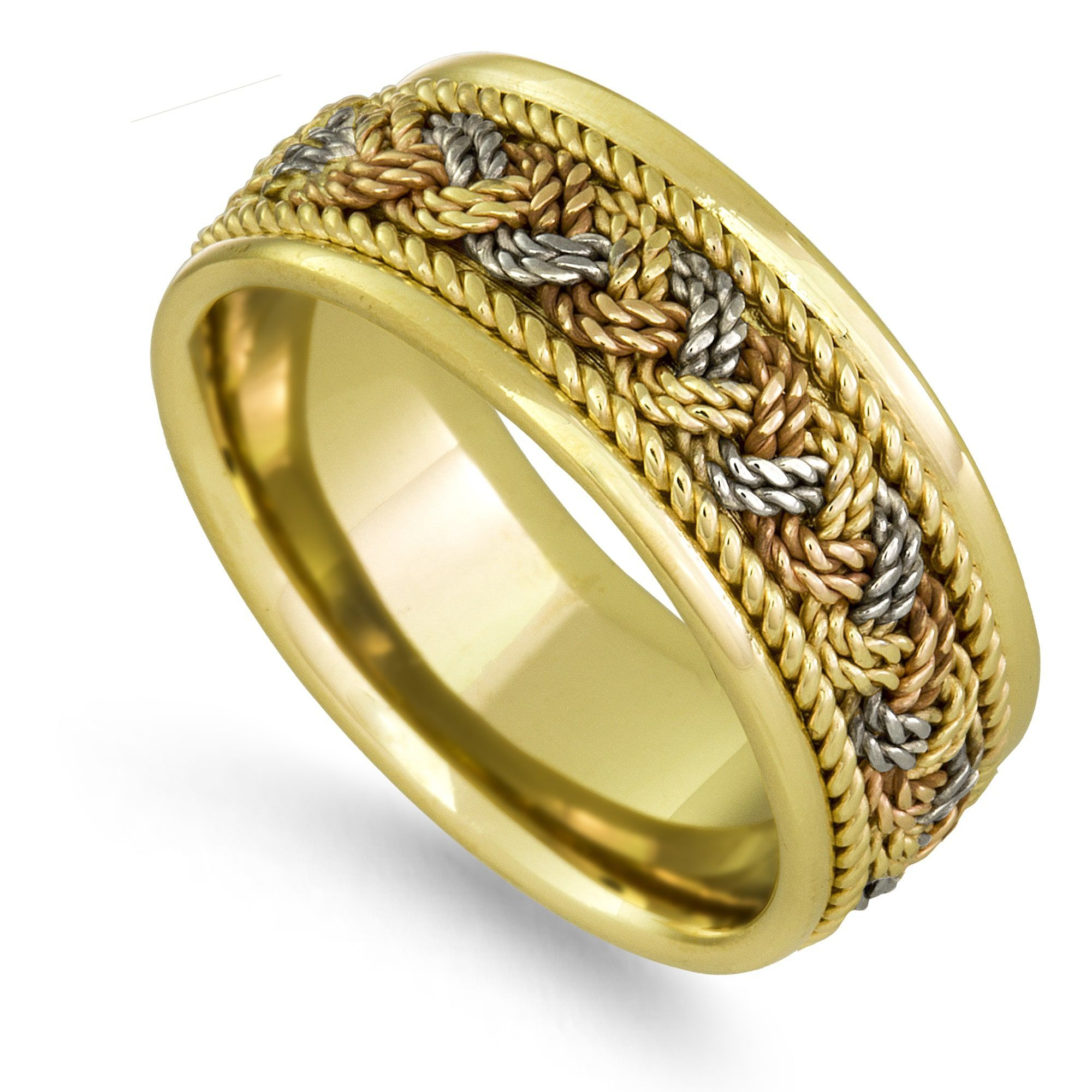 colored img band triple buy with gold bands new in pave canada ring arrivals pav color diamond tri at