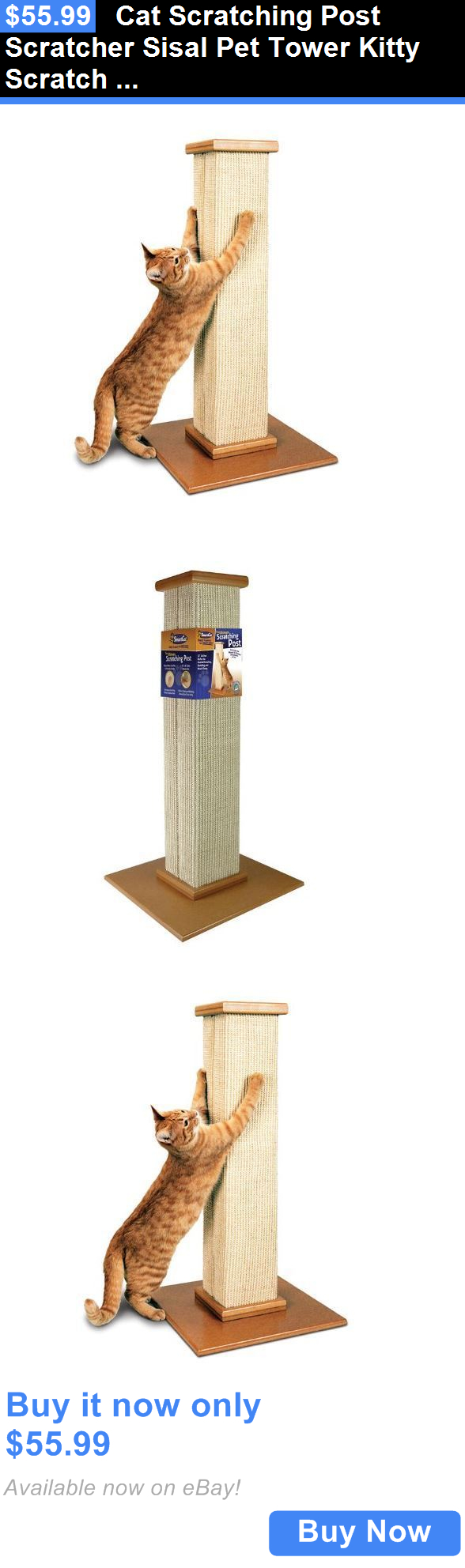 Animals Cats: Cat Scratching Post Scratcher Sisal Pet Tower Kitty Scratch Toy Play Kitten Tree BUY IT NOW ONLY: $55.99
