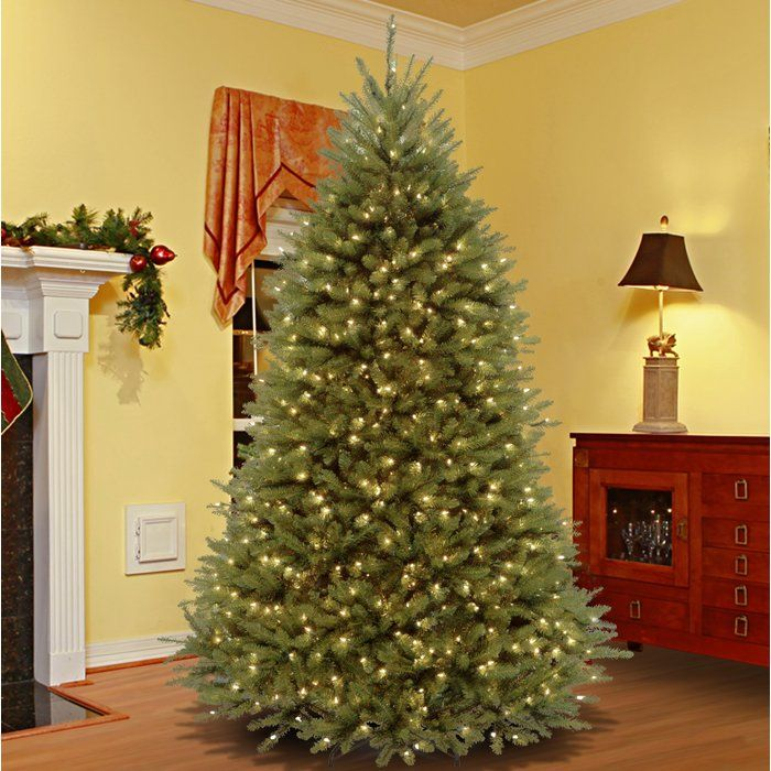 e2a68e9e463 Green Fir Artificial Christmas Tree with 650 Lights Colored and White Lights  with Stand