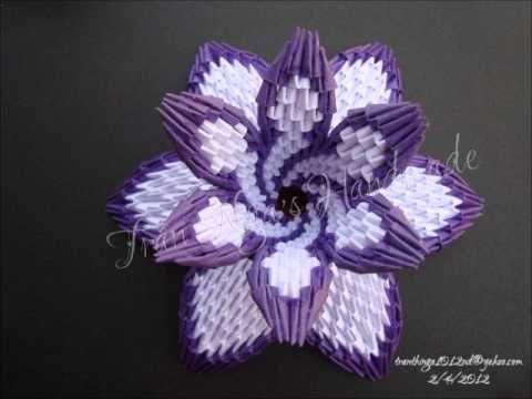 How To 3d Origami Flower Vase Origami Pinterest 3d Origami
