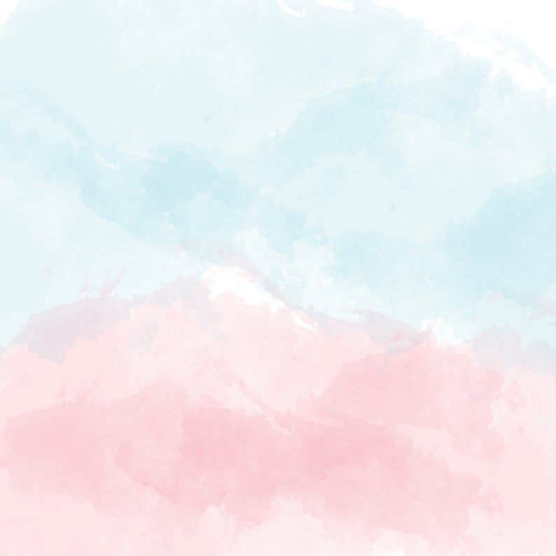Watercolor Digital Paper, Pink and Blue Watercolor Texture Scrapbook Paper, Instant Download, 10 designs, 12x12