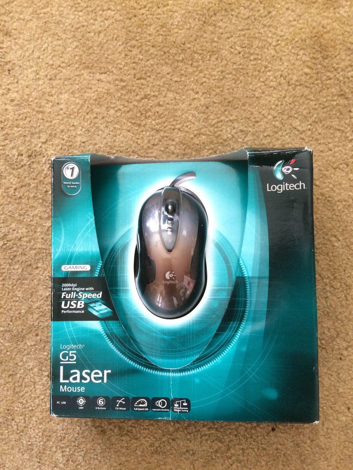 New Logitech G5 Laser Mouse (931376-0403)
