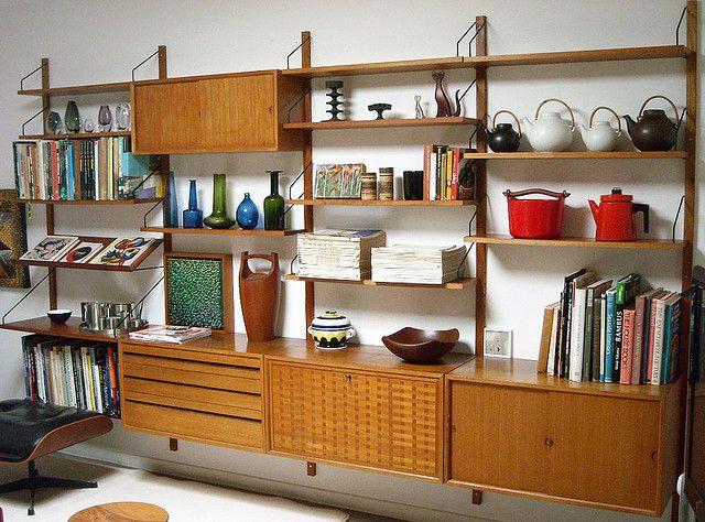Poul Cadovius Mid Century Wall Unit Mid Century Modern Interiors Modern Scandinavian Interior