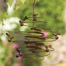 Double Spiral Garden Hanger With Bees By Ancient Graffiti