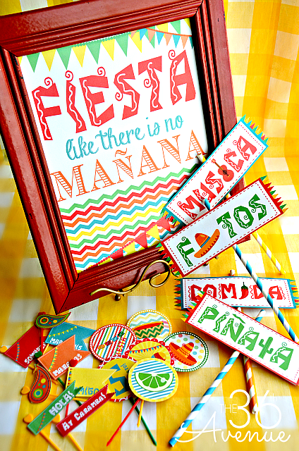 Fiesta Party Kit Printable The 36th Avenue Mexican Party Theme