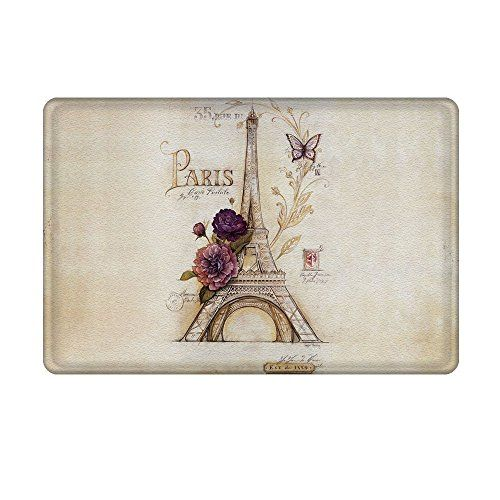 Magical Vintage Paris Eiffel Tower Design Bathroom Rug Paris Theme Bathroom Bathroom Rugs Floral Bathroom Rugs