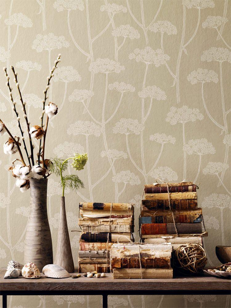 Anis - Florale Mustertapete von Sanderson 1258 - designer tapeten schlafzimmer kinderzimmer