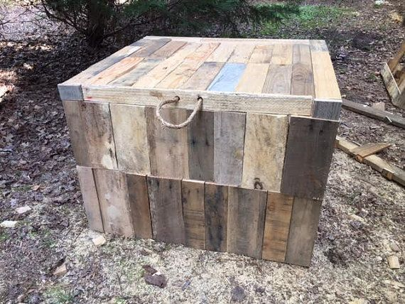 Deck And Pool Storage Box By TheRusticPalletStore On Etsy