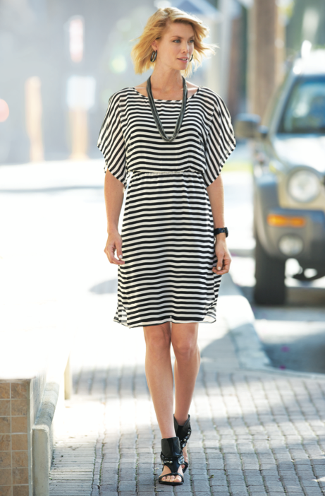 Sassy Stripes Dress from Monroe and Main.