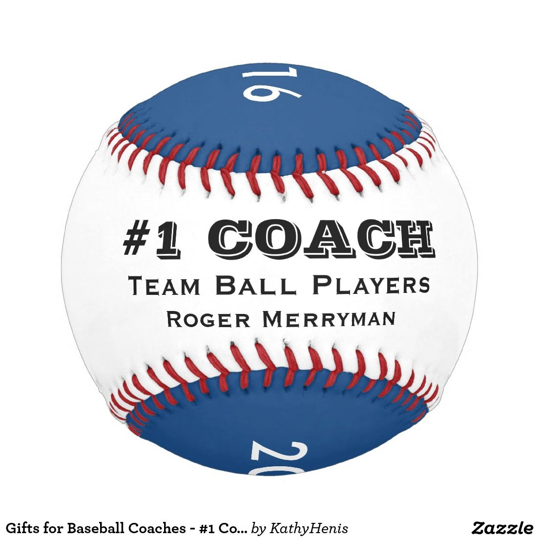 Gifts for Baseball Coaches - #1 Coach in Blue
