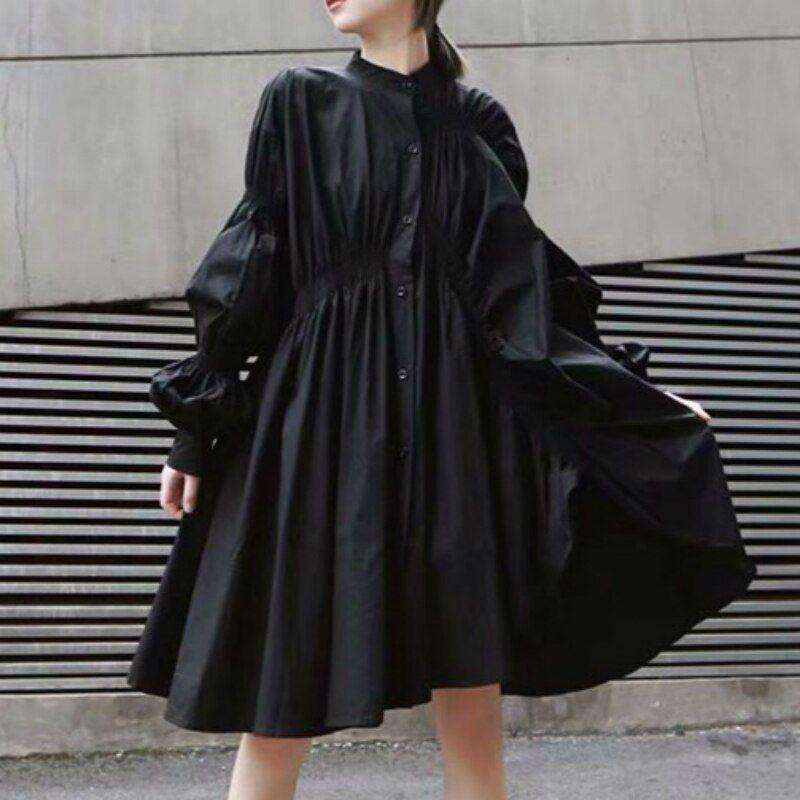 Blouses de femmes - Blouses pour dames Blouse femmes Taille Plus coréenne Blanc féminin Blouses dames irrégulière Gather