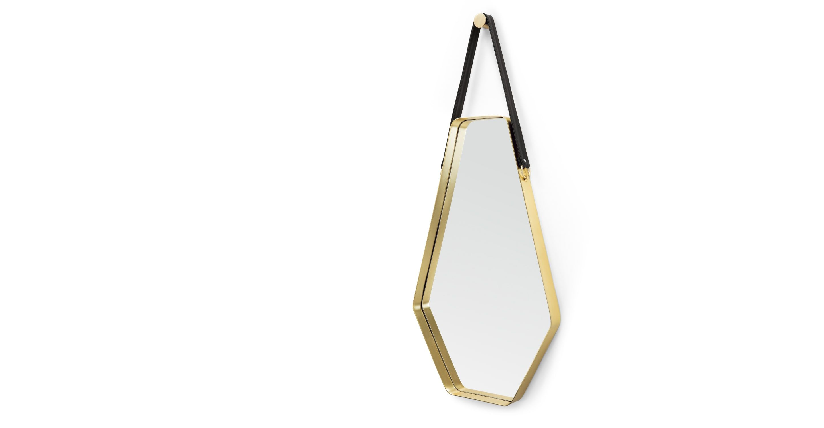 Made large mirror x cm black u gold express delivery cora