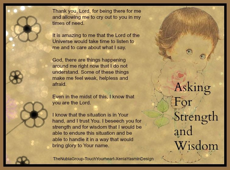 Prayer for strength and wisdom | Inspirational quotes